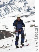 Купить «Ски-альпинизм. Камчатка», фото № 3836281, снято 21 апреля 2012 г. (c) А. А. Пирагис / Фотобанк Лори