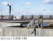 """Купить «Композиция """"Девочка и Собачка"""", г. Белгород», фото № 3838149, снято 9 сентября 2012 г. (c) Denis Kh. / Фотобанк Лори"""