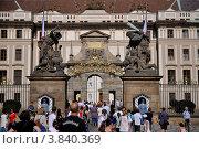 Ворота в Пражский град (2012 год). Редакционное фото, фотограф Елена Конькова / Фотобанк Лори