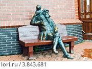 Купить «Скульптура старого шкипера с обезьянкой на плече. Рыбная деревня, Калининград», фото № 3843681, снято 15 сентября 2012 г. (c) Сергей Трофименко / Фотобанк Лори