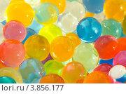 Купить «Фон из цветных гелевых шариков», фото № 3856177, снято 21 сентября 2012 г. (c) Икан Леонид / Фотобанк Лори