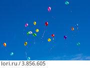Разноцветные воздушные шары на фоне неба. Стоковое фото, фотограф oleg didenko / Фотобанк Лори