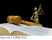 Купить «Статуя правосудия на черном фоне», фото № 3858513, снято 22 сентября 2012 г. (c) Ласточкин Евгений / Фотобанк Лори