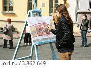 Купить «Художник за работой», фото № 3862649, снято 8 сентября 2012 г. (c) Марина Шатерова / Фотобанк Лори