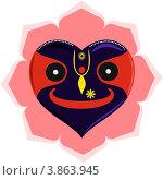 Купить «Джаганнатх в форме сердца», иллюстрация № 3863945 (c) Вячеслав Беляев / Фотобанк Лори
