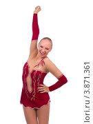 Купить «Гимнастка радуется победе», фото № 3871361, снято 12 сентября 2012 г. (c) Tatjana Romanova / Фотобанк Лори