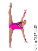 Купить «Гимнастка и шпагат», фото № 3871425, снято 12 сентября 2012 г. (c) Tatjana Romanova / Фотобанк Лори