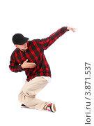 Купить «Хип-хоп танцор делает телодвижения», фото № 3871537, снято 5 сентября 2012 г. (c) Tatjana Romanova / Фотобанк Лори