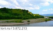 Горная панорама на фоне облачного неба. Стоковое фото, фотограф Артур Худолий / Фотобанк Лори