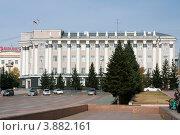 Административное здание на площади Советов. Город Улан-Удэ (2012 год). Редакционное фото, фотограф Анна Зеленская / Фотобанк Лори
