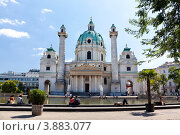 Купить «Костел святого Карла. Вена», фото № 3883077, снято 14 августа 2012 г. (c) Наталья Волкова / Фотобанк Лори