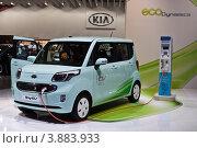 Купить «Электромобиль киа Kia Ray EV electric car», фото № 3883933, снято 3 сентября 2012 г. (c) Максим Голубев / Фотобанк Лори