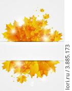 Купить «Бумажный фон с осенними листьями», иллюстрация № 3885173 (c) Евгения Малахова / Фотобанк Лори