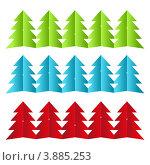 Набор бумажных новогодних гирлянд. Стоковая иллюстрация, иллюстратор Евгения Малахова / Фотобанк Лори