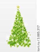 Новогодняя елка. Стоковая иллюстрация, иллюстратор Евгения Малахова / Фотобанк Лори