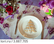 Купить «Новогодний стол накрытый для ребенка», фото № 3887705, снято 30 октября 2011 г. (c) Елена Вяселева / Фотобанк Лори