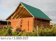 Купить «Строящийся дачный дом», эксклюзивное фото № 3889037, снято 29 сентября 2012 г. (c) Александр Щепин / Фотобанк Лори