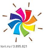 Разноцветные малярные валики. Стоковая иллюстрация, иллюстратор Michael Travers / Фотобанк Лори