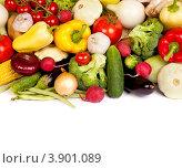 Куча различных свежих фруктов и ягод. Стоковое фото, фотограф Сергей Фигурный / Фотобанк Лори