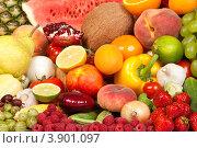 Разнообразные фрукты. Стоковое фото, фотограф Сергей Фигурный / Фотобанк Лори