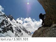 Альпинист на Кавказе. Стоковое фото, фотограф Елена Чердынцева / Фотобанк Лори