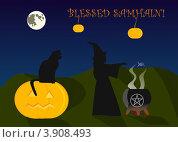 Купить «Поздравительная открытка на Самуин», иллюстрация № 3908493 (c) Вячеслав Беляев / Фотобанк Лори