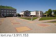 Вид с центральной площади, Новохоперск (2012 год). Стоковое фото, фотограф Вячеслав Потапов / Фотобанк Лори