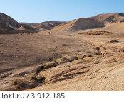 Пустыня возле Мёртвого моря. Стоковое фото, фотограф Shlomo Polonsky / Фотобанк Лори