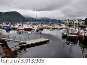 Купить «Пристань и катера», фото № 3913905, снято 24 октября 2008 г. (c) Estet / Фотобанк Лори