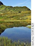 Домик на берегу фьорда (2008 год). Стоковое фото, фотограф Estet / Фотобанк Лори