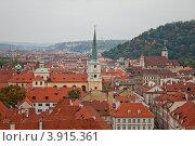 Красные крыши старой Праги (2010 год). Стоковое фото, фотограф Николай Венедиктов / Фотобанк Лори