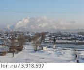 Зимний пейзаж с заводскими трубами (2007 год). Стоковое фото, фотограф Алексей Белобородов / Фотобанк Лори