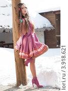 Купить «Девушка в стилизованном русском костюме», фото № 3918621, снято 26 февраля 2012 г. (c) Момотюк Сергей / Фотобанк Лори