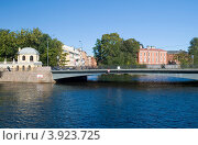 Купить «Храповицкий мост через Мойку. Санкт-Петербург», эксклюзивное фото № 3923725, снято 16 сентября 2012 г. (c) Александр Щепин / Фотобанк Лори