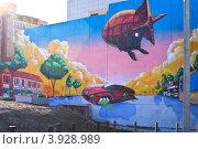 Купить «Граффити на Разгуляе, Пермь», фото № 3928989, снято 11 августа 2012 г. (c) Александр  Буторин / Фотобанк Лори