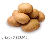 Купить «Картофель на белом фоне», фото № 3933013, снято 1 октября 2012 г. (c) Денис Ларкин / Фотобанк Лори