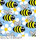 Купить «Пчелы и цветы», иллюстрация № 3935677 (c) Silanti / Фотобанк Лори