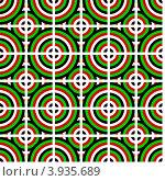 Купить «Бесшовный геометрический фон с кругами», иллюстрация № 3935689 (c) Silanti / Фотобанк Лори