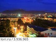 Город Улан-Удэ ночью. Стоковое фото, фотограф Юрий Кузнецов / Фотобанк Лори