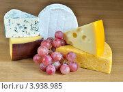 Сыр с виноградом. Стоковое фото, фотограф Julia Ovchinnikova / Фотобанк Лори