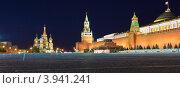 Красная площадь. Ночной вид (2012 год). Стоковое фото, фотограф Екатерина Романова / Фотобанк Лори