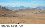 Купить «Дороги в Монголии, горный пейзаж», фото № 3945709, снято 9 октября 2011 г. (c) hunta / Фотобанк Лори