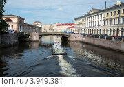 Купить «Тройной мост (Северное крыло) через реку Мойку. Санкт-Петербург», фото № 3949381, снято 17 августа 2012 г. (c) Олег Тыщенко / Фотобанк Лори