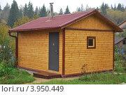 Купить «Баня из бруса», фото № 3950449, снято 23 сентября 2012 г. (c) Сычёва Татьяна / Фотобанк Лори