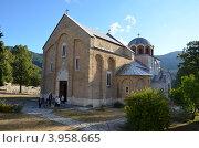 Купить «Монастырь Студеница, Сербия», фото № 3958665, снято 8 октября 2012 г. (c) Алексей Пугачев / Фотобанк Лори