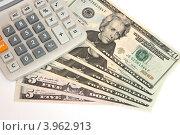 Калькулятор на двадцатидолларовых купюрах. Стоковое фото, фотограф Максим Кузнецов / Фотобанк Лори