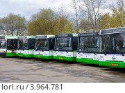 Купить «Автобусы», эксклюзивное фото № 3964781, снято 13 октября 2012 г. (c) Валерия Попова / Фотобанк Лори