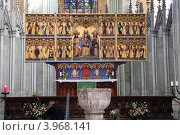 Внутренний интерьер церкви Святой Марии в Штральзунде (Германия) (2011 год). Стоковое фото, фотограф Евгений Вадимович Антейкер / Фотобанк Лори