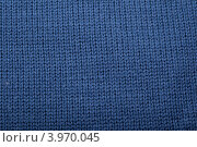 Вязаный фон, синяя ткань. Стоковое фото, фотограф Валерия Зарубицкая / Фотобанк Лори
