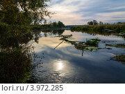 Река вечером. Стоковое фото, фотограф Андрей Корж / Фотобанк Лори